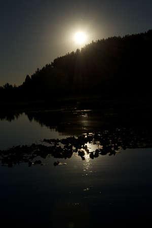 d: Coeur d Alene lake at dusk  8