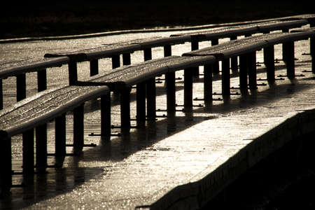 Wet benches at Old Faithful Imagens