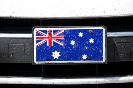 バンパーにオーストラリア国旗 写真素材