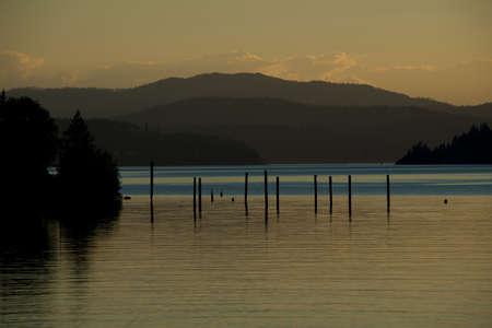 d: Coeur d Alene lake at dusk  3