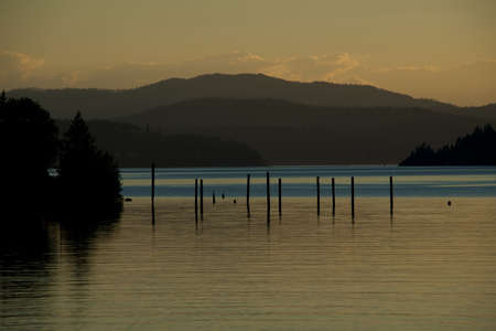 Coeur d Alene meertje bij zonsondergang 3