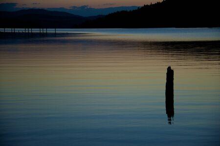 coeur: Coeur d Alene meertje bij zonsondergang 2 Stockfoto