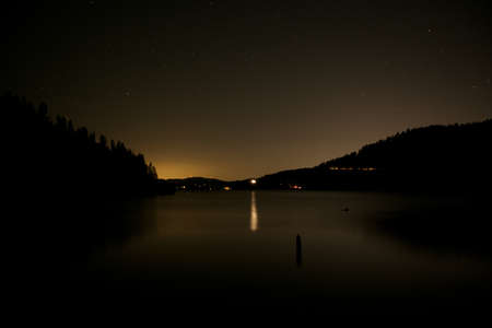 coeur: Night at Coeur d Alene lake