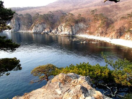The Sea of ??Japan, coast of the Far East Marine Biosphere Reserve in spring.