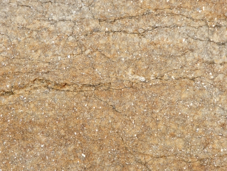 Brown and yellow stone with mica spots natural texture background