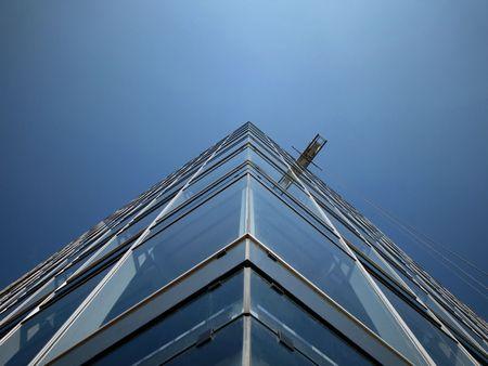 futuristically: Architektur Glasgebaeude hamburger Hafen