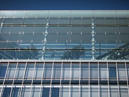 metall and glass: Architektur Glasgeb�ude hamburger Hafen
