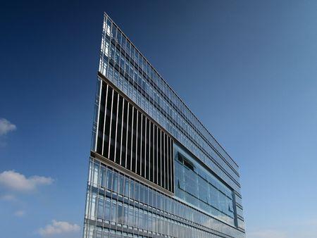 Architektur Glasgebäude hamburger  Stock Photo