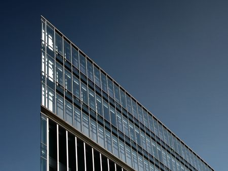 futuristically: Architektur Glasgebäude hamburger