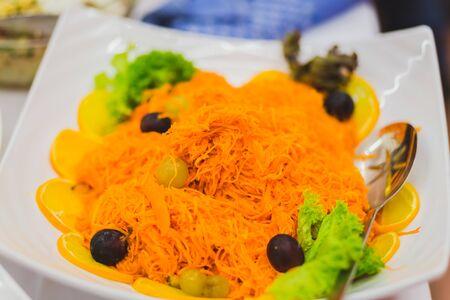 Karotten und Salat