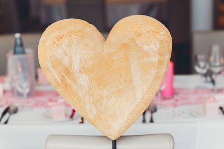 Wood heart Lizenzfreie Bilder