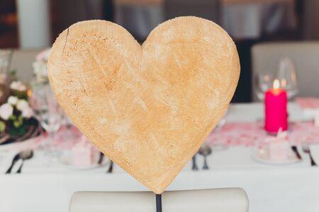 Wood heart Standard-Bild