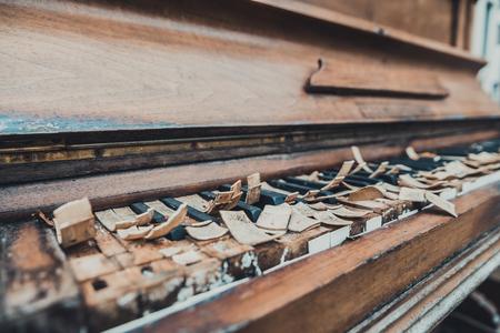 old piano Banco de Imagens