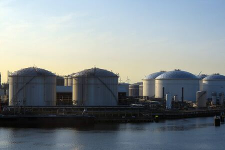 Group of oil tank in port of Rotterdam