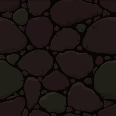 cobblestone: Old cracked stone wall Illustration