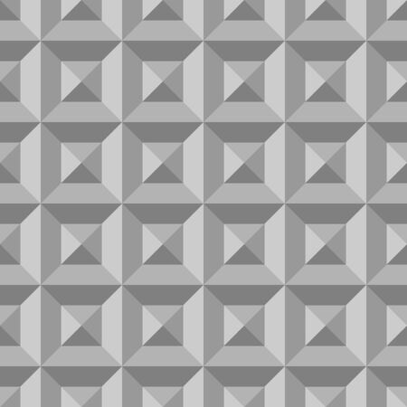 grayscale: 3D pattern with grayscale triangles and squares. Illustration