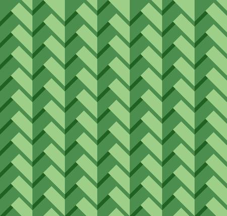 three dimensional: Green three dimensional rectangle pattern