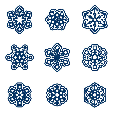 flake: Snow flake vector set