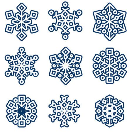 flocon de neige: vecteur de jeu de l'hiver
