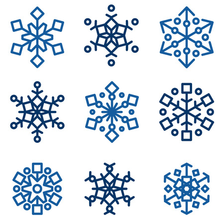 the snowflake: Winter snowlfakes vector set Illustration