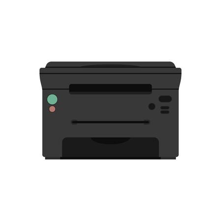 vector printer icons set printing equipment color printer