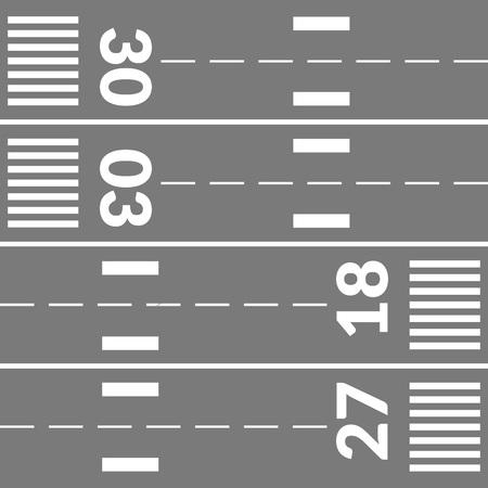 runways: Airport runways parts Illustration