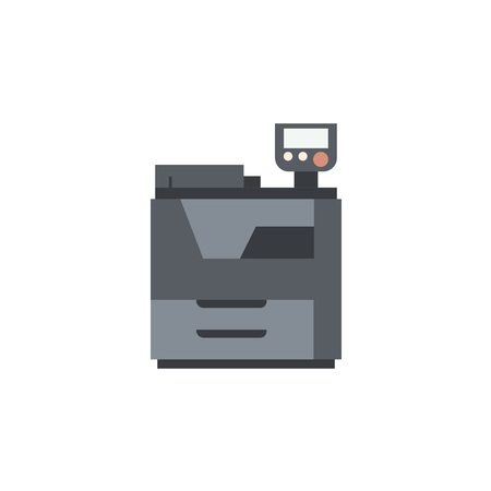 color printer: Color printer icon.Equipment for office work. Copy and scan machine.