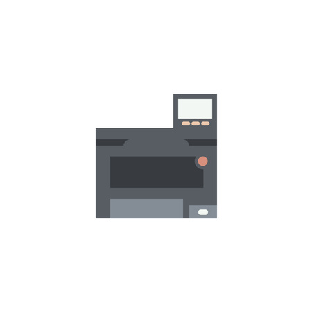 copy machine: Color printer icon.Equipment for office work. Copy and scan machine.