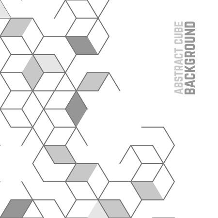 Wektor abstrakcyjna tła z komórki kostki. Nowoczesna technologia ilustracja z oczek kwadratowych. Cyfrowy geometrycznej abstrakcji z linii i punktów.