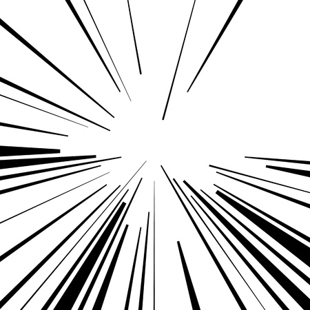 the light rays: Abstract vector rays on white background. Explosive illustration with dynamic shapes. Monochrome wallpaper with sparkle. Holiday firework with text template. Dynamite burst. Dynamic blast elements.