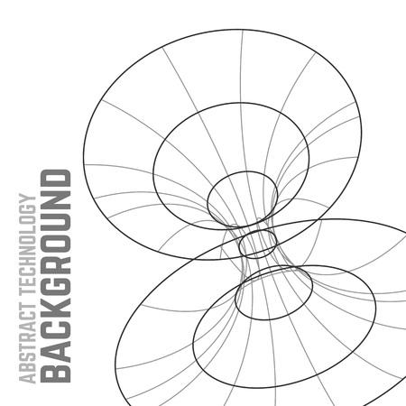 Noir et blanc lignes modernes abstract vector background. Modernes formes de cercle géométriques. éléments filaires polygonales. Les lignes et les points. Les points de connexion et des lignes.