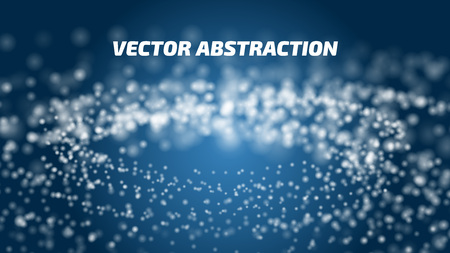 Vector abstract background. Internet data connection illustration. Space, universe with blurring stars. Electronic colorful abstraction. Illustration