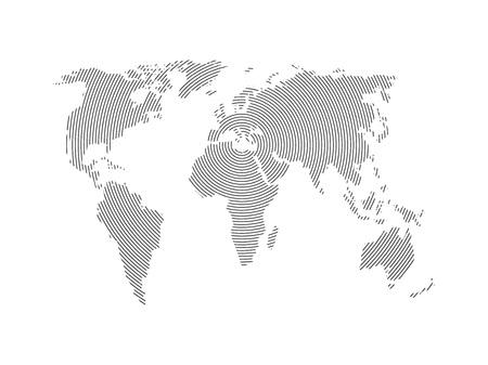 World Map vector illustration. Monochrome world abstraction.