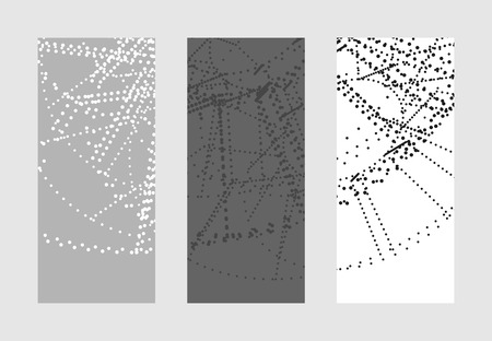 Abstract vector background. Technology illustration with geometric shapes. Color small dots texture, template for web and print design.