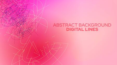 Futuristic abstract background. Vector digital concept. Geometric color design. 3d technology illustration.
