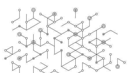 Abstract vector background. Polygon vector illustration. Technology futuristic design. Black cube shape pattern. Geometric lines. Digital backdrop.