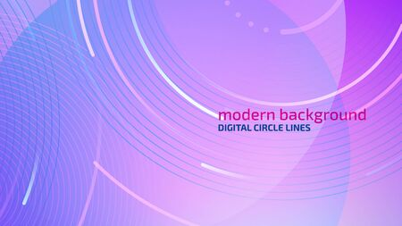Abstract color background. Modern technology illustration. Digital circle lines concept. Eps10 vector.
