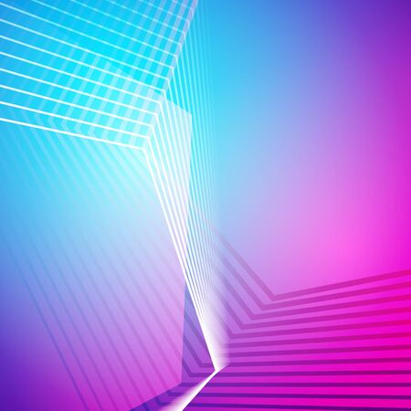 3d digital lines. Abstract color gradient background. Blue vector design. Technology illustration with polygon shapes. Geometric lines and colorful backdrop.