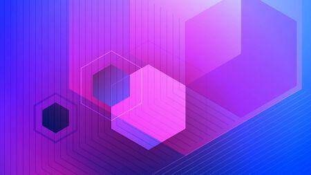 Abstract vector background. Polygon vector illustration. Technology futuristic design. Color cube shape pattern. Geometric lines. Digital backdrop. Illusztráció