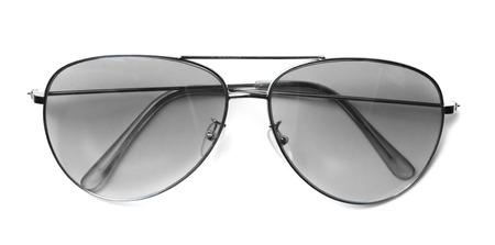 aviator: Isolated Aviator Sunglasses with White Lenses Stock Photo