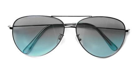 aviator: Isolated Aviator Sunglasses with Blue Lenses