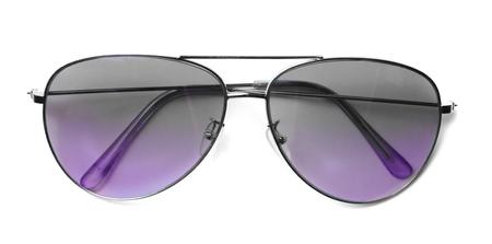 aviator: Isolated Aviator Sunglasses with Purple Lenses