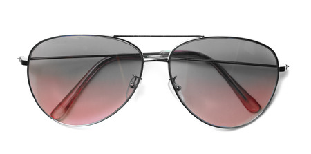 aviator: Isolated Aviator Sunglasses with Red Lenses