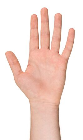hand position: Isolated Male Hand in a Position