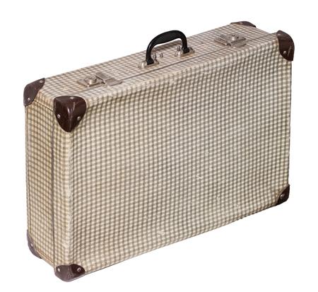 Isolated Pstel Cross Vintage Suitcase sur un fond blanc Banque d'images - 62119652