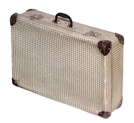 Isolated Pstel Cross Vintage Suitcase sur un fond blanc Banque d'images - 62119653