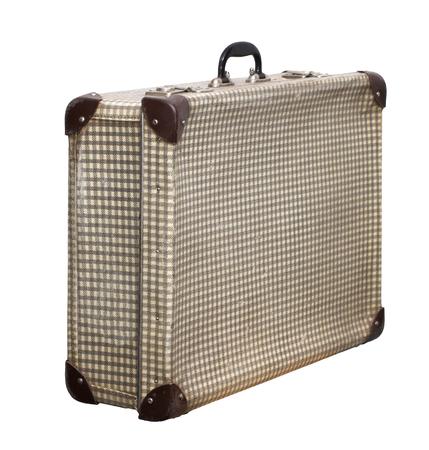 Isolated Pstel Cross Vintage Suitcase sur un fond blanc Banque d'images - 62119654