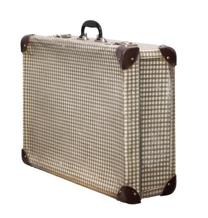 Isolated Pstel Cross Vintage Suitcase sur un fond blanc Banque d'images - 62119655