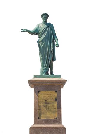 duke: Isolated Ancient Statue of Duke in Odessa City, Ukraine