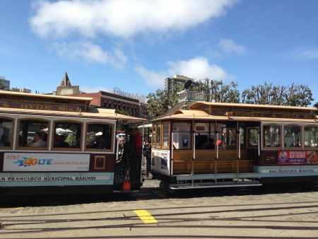 Trolleys in San Francisco.